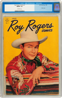 Roy Rogers Comics #1 (Dell, 1948) CGC FN/VF 7.0 Off-white pages