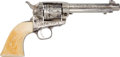 Handguns:Single Action Revolver, Fine Cuno Helfricht Shop Engraved Colt Single Action Revolver, Circa 1917. ...