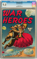 Golden Age (1938-1955):War, War Heroes #4 (Dell, 1943) CGC VF/NM 9.0 Off-white to whitepages....