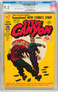 Golden Age (1938-1955):Adventure, Steve Canyon #2 (Harvey, 1948) CGC NM- 9.2 Cream to off-whitepages....