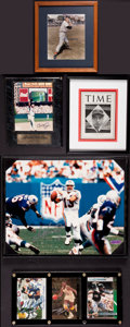 Miscellaneous Collectibles:General, Sports Greats Signed Photographs and Cards Lot of 7....
