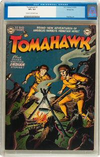 Tomahawk #1 Windy City pedigree (DC, 1950) CGC VF+ 8.5 Cream to off-white pages