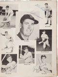 "Autographs:Others, 1954 Baseball Stars Signed ""Baseball Pictorial"" Magazine...."
