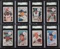 Baseball Cards:Sets, 1970 Kellogg's Baseball High Grade Near Card Set (71/75)....