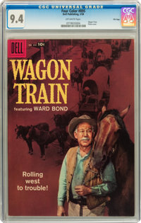 Four Color #895 Wagon Train - File Copy (Dell, 1958) CGC NM 9.4 Off-white pages