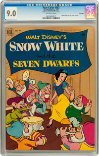 Four Color #382 Snow White and the Seven Dwarfs - File Copy (Dell, 1952) CGC VF/NM 9.0 Off-white pages