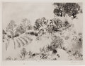 Prints, FROM THE ESTATE OF DR. EDMUND P. PILLSBURY. PETER MILTON (American, b. 1930). Winterscape VI, 1965. Lift-ground etchin...