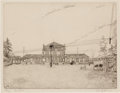 Prints:European Modern, ANTHONY GROSS (British, 1905-1984). La Gare, 1938. Etching.7-1/2 x 10 inches (19.1 x 25.4 cm). Ed. 23/50. Signed, title...