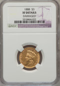 Three Dollar Gold Pieces: , 1888 $3 --Damaged-- NGC Details. XF. NGC Census: (0/520). PCGSPopulation (3/659). Mintage: 5,000. Numismedia Wsl. Price for...