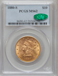 Liberty Eagles: , 1880-S $10 MS62 PCGS. CAC. PCGS Population (167/42). NGC Census:(224/36). Mintage: 506,250. Numismedia Wsl. Price for prob...