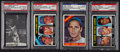 Baseball Cards:Autographs, Sandy Koufax Signed Vintage Cards Lot of 4....