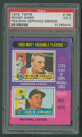 "Baseball Cards:Autographs, 1975 Topps #198 ""1960 MVPs"" Roger Maris Signed Card...."