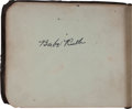 Autographs:Others, 1925 Baseball Stars Signed Autograph Book with Ruth, Cobb....