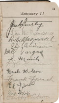 Autographs:Others, 1920's Baseball Stars Signed Autograph Book with Hack Wilson (2), G.C. Alexander....
