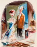 "Mainstream Illustration, JACK COLE (American, 1914-1958). ""Like They Say in the TravelFolders, Miss Duncan ¬ Getting There Is Half the Fun"", Playb..."