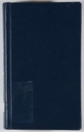 Books:First Editions, Charles Wentworth Upham. Life, Explorations and Public Servicesof John Charles Fremont. Boston: Ticknor and Fie...