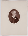 Antiques:Posters & Prints, Lot of 10 Antique Photographic Portraits of Eminent 19th CenturyEnglishmen....