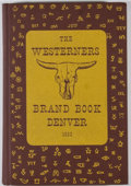 Books:First Editions, Maurice Frink [editor]. The Denver Westerners' 1953 Brand Book:IX. Denver: Westerners, 1954. First edition. Octavo....