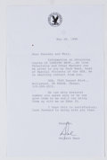 Books:Signed Editions, Delbert Mann. Typed Letter Signed and on Directors Guild Letterhead. Single page and dated 1999. Letter from...