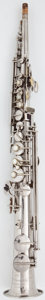 Musical Instruments:Horns & Wind Instruments, Circa 1927 Conn Silver Soprano Saxophone, Serial Number#M193343....