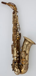 Musical Instruments:Horns & Wind Instruments, Paris King Marigaux SML Brass Alto Saxophone, Serial Number #22661....
