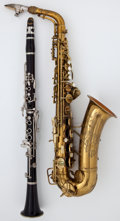 Musical Instruments:Horns & Wind Instruments, Circa 1942 Conn Naked Lady Brass Alto Saxophone, Serial Number #307148... (Total: 2 Items)