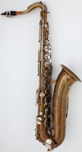 Musical Instruments:Horns & Wind Instruments, Circa 1941 Martin Handcraft Comm. II Brass Tenor Saxophone, Serial Number #139301....
