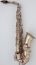 Musical Instruments:Horns & Wind Instruments, Circa 1923 Buescher True-Tone Low Pitch Silver Alto Saxophone, Serial Number #122851....