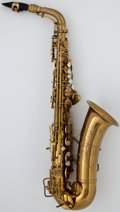 Musical Instruments:Horns & Wind Instruments, 1941 Conn Naked Lady Brass Alto Saxophone, Serial Number#289406....