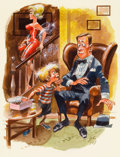 """Pulp, Pulp-like, Digests, and Paperback Art, JACK DAVIS (American, b. 1926). """"Sis Must Like You- She'sWearing Her Big Chest Tonight"""", Playboy cartoon illustration,pa..."""