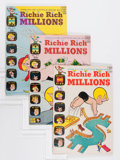 Silver Age (1956-1969):Humor, Richie Rich Millions File Copy Group (Harvey, 1962-73) Condition: Average VF/NM.... (Total: 45 Comic Books)