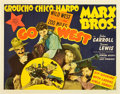 "Movie Posters:Comedy, Go West (MGM, 1940). Half Sheet (22"" X 28"").. ..."