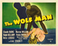 "Movie Posters:Horror, The Wolf Man (Universal, 1941). Title Lobby Card (11"" X 14"").. ..."