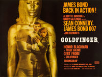 "Goldfinger (United Artists, 1964). British Quad (30"" X 40"")"