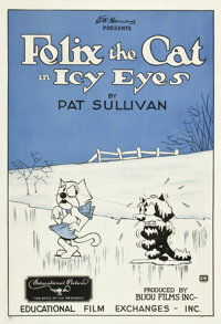 "Felix the Cat in Icy Eyes (Educational, 1927). One Sheet (28.5"" X 41"")"