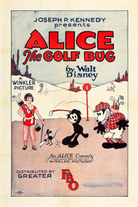 "Walt Disney's Alice the Golf Bug (FBO, 1927). One Sheet (27"" X 41"")"