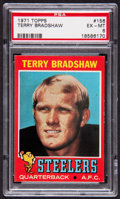 Football Cards:Singles (1970-Now), 1971 Topps Terry Bradshaw #156 PSA EX-MT 6....