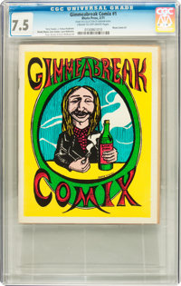 Gimmeabreak Comix #1 (Rhuta Press, 1971) CGC VF- 7.5 Cream to off-white pages