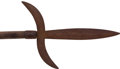 Military & Patriotic:Revolutionary War, 18th Century Hand Forged American Spontoon....