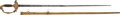 Military & Patriotic:Pre-Civil War, Exceptional Quality American Eaglehead Officer's Straight Sword, Circa 1825. ...
