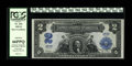 Large Size:Silver Certificates, Fr. 254 $2 1899 Silver Certificate Courtesy Autograph PCGS Gem New66PPQ. This Washington Deuce has so much going for it. It...