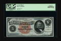 Large Size:Silver Certificates, Fr. 262 $5 1886 Silver Certificate PCGS Gem New 65PPQ. A muchscarcer Friedberg number with only about 50 examples known in ...