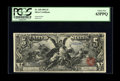 Large Size:Silver Certificates, Fr. 268 $5 1896 Silver Certificate PCGS Choice New 63PPQ. This wonderful piece comes from a cut sheet which was disbursed ov...