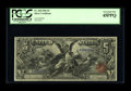 Large Size:Silver Certificates, Fr. 268 $5 1896 Silver Certificate PCGS Extremely Fine 45PPQ. This note listed as CU in the census retains bold color and is...