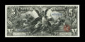 Large Size:Silver Certificates, Fr. 268 $5 1896 Silver Certificate Very Fine. Extraordinarily largemargins frame the iconic Educational design. This lovely...
