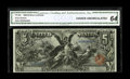 Large Size:Silver Certificates, Fr. 269 $5 1896 Silver Certificate CGA Choice Uncirculated 64. The deep impression of the serial numbers can be easily seen ...