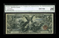 Large Size:Silver Certificates, Fr. 270 $5 1896 Silver Certificate CGA Very Fine 25. A nice-looking mid-grade circulated Educational Five, and the scarcest ...