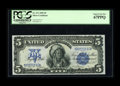 Large Size:Silver Certificates, Fr. 271 $5 1899 Silver Certificate PCGS Superb Gem New 67PPQ. Thisnote is simply perfect and as nice a Chief as any we've e...