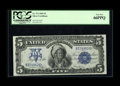 Large Size:Silver Certificates, Fr. 272 $5 1899 Silver Certificate PCGS Gem New 66PPQ. This is astandout Chief with excellent margins, perfect color, and d...