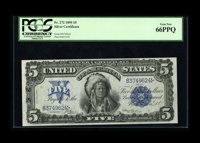 Fr. 272 $5 1899 Silver Certificate PCGS Gem New 66PPQ. This is a standout Chief with excellent margins, perfect color, a...